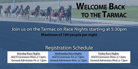 Aug. 10, 2020 -  Race Night Tarmac Registration tickets