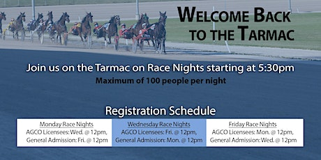 Aug. 24, 2020 -  Race Night Tarmac Registration tickets