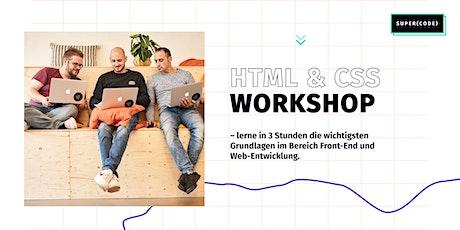 Kostenloses Webinar: HTML & CSS Workshop –für Anfänger Tickets