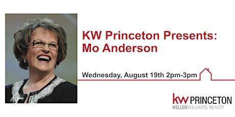 KW Princeton Presents Mo Anderson tickets
