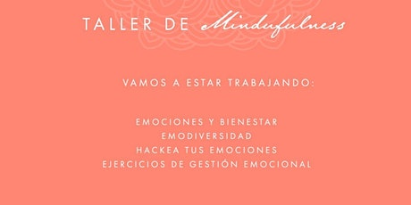 Taller de Mindfulness y gestión emocional boletos