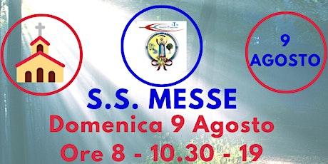 S.S. Messe DOMENICA 9 Agosto biglietti