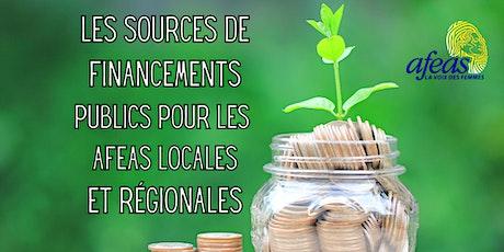 Les sources de financements publics pour les Afeas locales et régionales tickets