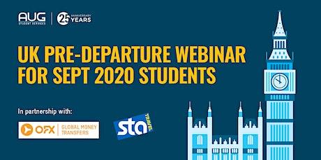 UK Pre-departure Webinar for Sept 2020 students tickets