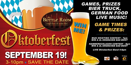 Oktoberfest @ The Bottle Room - LIVE OOMPAH BAND tickets
