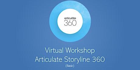 Virtual Workshop: Articulate Storyline 360 Basic tickets