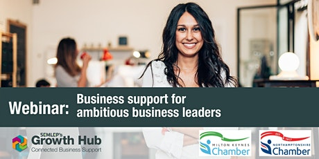 Business support for ambitious business leaders tickets