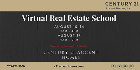 Real Estate School for August tickets