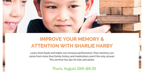 Improve Your Memory & Attention with Sharlie Harby tickets
