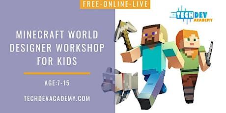 Free-Live Minecraft World Designer Workshop for Kids tickets