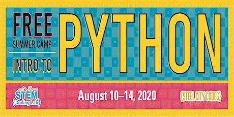 Free PYTHON Summer Camp tickets