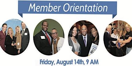 August Member Orientation tickets