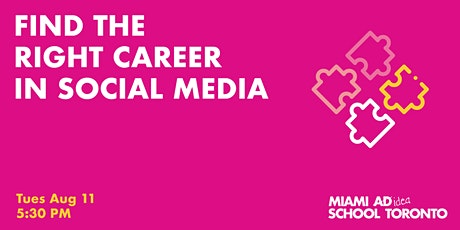 Find The Right Social Media Career tickets