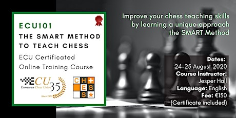 ECU101 - The SMART Method to Teach Chess - Chess Didactics tickets