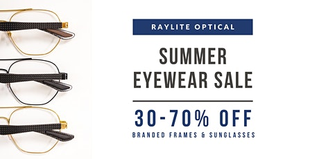 [Up to 70% Off] Eyewear Summer Clearance (Appointment Only) tickets