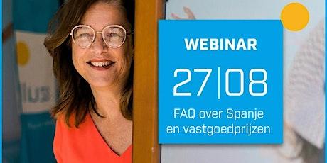 FAQ over Spanje en vastgoedprijzen - 27/08/2020 tickets