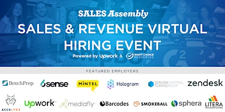 Tech Sales & Revenue Virtual Hiring Event tickets