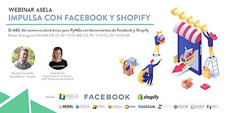 Impulsa con Facebook y Shopify boletos