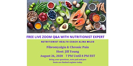 FREE LIVE ZOOM Q&A WITH NUTRITIONIST EXPERT tickets
