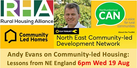 Community-led Housing: Lessons from NE England - Andy Evans 6pm Wed 19 Aug tickets