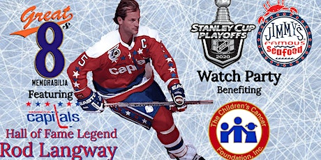 """""""The Road To The Cup""""  Capitals Watch Party with Hall of Famer Rod Langway tickets"""