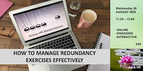 Manage redundancy exercises effectively tickets