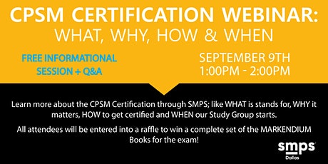 CPSM Certification Webinar: What, Why, How and When tickets