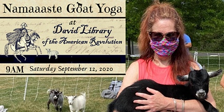 Namaaaste Goat Yoga at the David Library of the American Revolution tickets