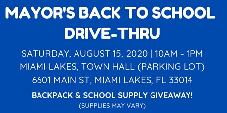 Mayor's Back to School Drive Through Event tickets