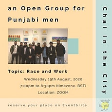 Open Group for Punjabi Men: Racism and Work tickets