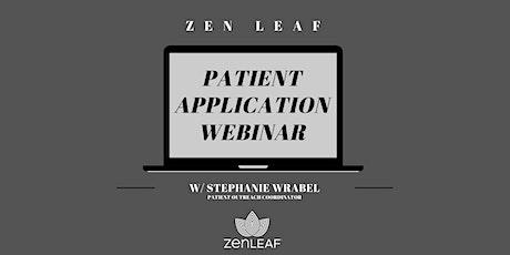 Medical Cannabis Patient Application Webinar tickets