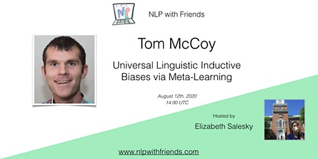 NLP with Friends, featured friend: Tom McCoy tickets