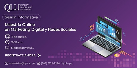 Sesión Virtual: Maestría Online en Marketing Digital y Redes Sociales entradas