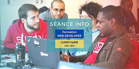 Séance Info - Formation Développeur Web - BXL tickets