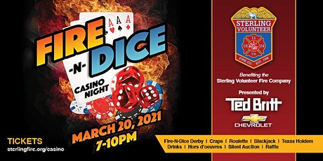 Fire-N-Dice Casino Night - NEW DATE 3/20/2021 - Presented by Ted Britt Chev tickets