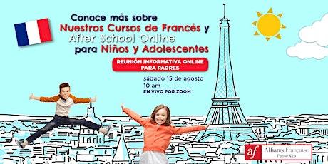 Reunión Informativa sobre Cursos de Francés para Niños y Adolescentes tickets