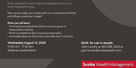 Webinar: Responsible Investing: Special Guest AGF Investments tickets