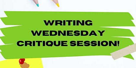 Writing Wednesday Critique Session tickets