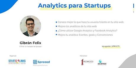 Analytics para Startups tickets