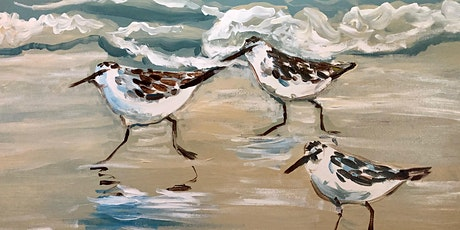 Paint and Sip Sandpiper Painting tickets