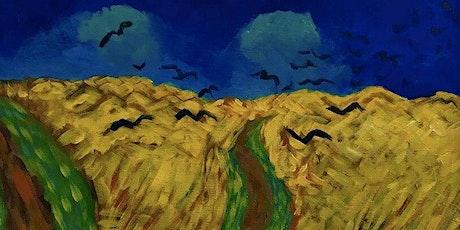 Braid St Art: Van Gogh's Wheatfield Virtual Paint Class - Online Art Class tickets