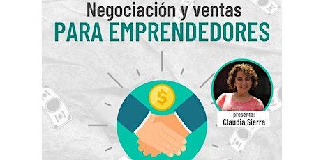 Negociación y ventas para emprendedores entradas