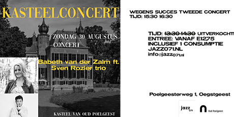 Kasteelconcert 15:30-16:30 tickets