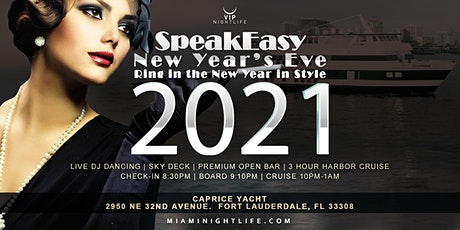 Speakeasy Fort Lauderdale Cruise NYE 2021 tickets