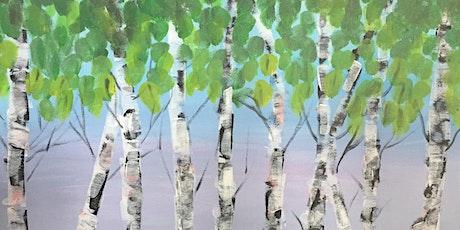 Braid St Art: Summer Birch Trees Virtual Paint Class - Nature Series tickets