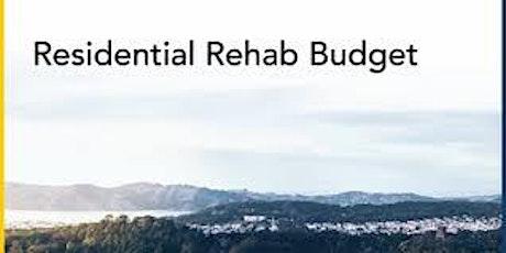 Fix & Flip Rehab Budgeting tickets