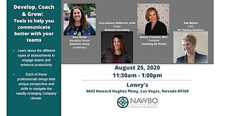 NAWBO Southern Nevada Presents -  Develop, Coach & Grow tickets