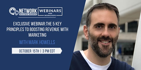 EXCLUSIVE WEBINAR: The 5 Key Principles to Boosting Revenue with Marketing tickets