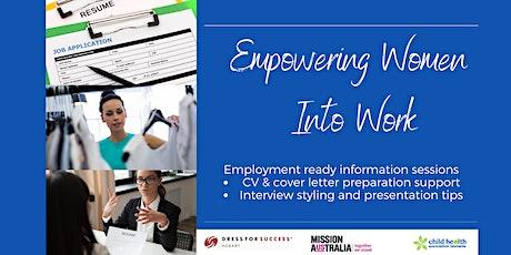 Empowering Women into Work tickets