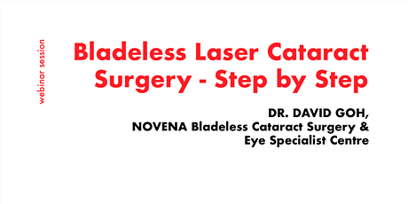 [FREE WEBINAR] Consult Opthalmologists for Bladeless Laser Cataract Surgery ingressos